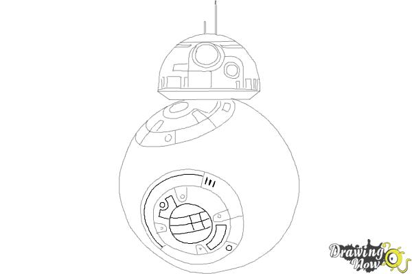 How to Draw BB-8 from Star Wars VII - Step 7