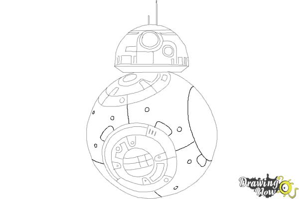 How to Draw BB-8 from Star Wars VII - Step 8