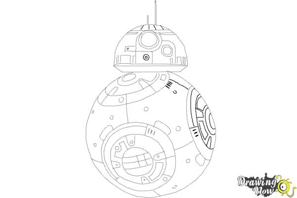 How to Draw BB-8 from Star Wars VII - Step 9