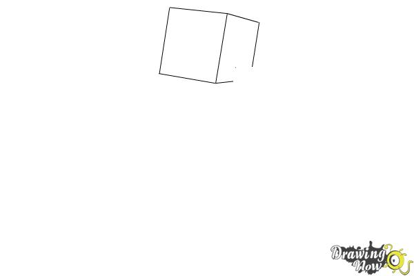 How to Draw Herobrine from Minecraft - Step 1