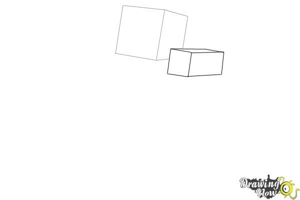 How to Draw Herobrine from Minecraft - Step 2