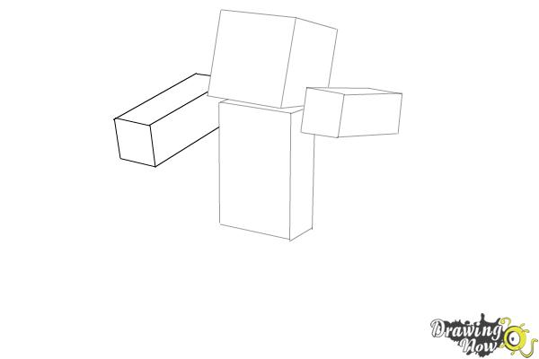How to Draw Herobrine from Minecraft - Step 4