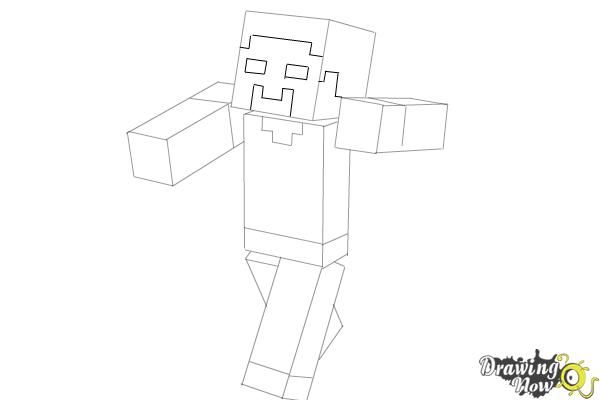 How To Draw Herobrine From Minecraft
