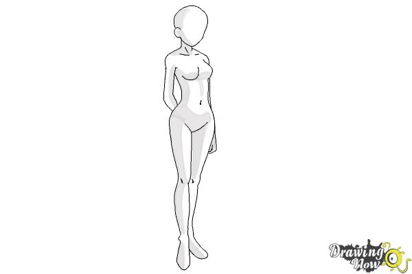 How to Draw Anime Body (Ver 2) - Step 10