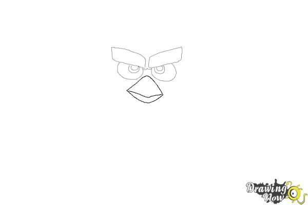 How to Draw Red from The Angry Birds Movie - Step 3