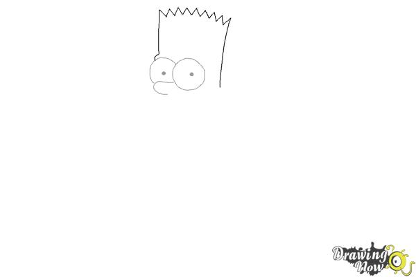 How to Draw Bart Simpson - Step 3