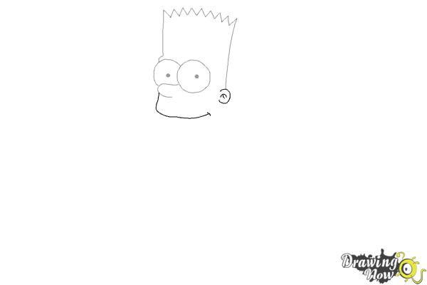 How to Draw Bart Simpson - Step 4