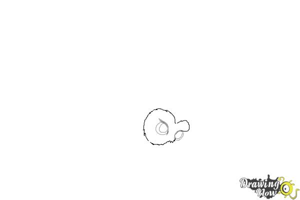 How to Draw Hedwig from Harry Potter - Step 2