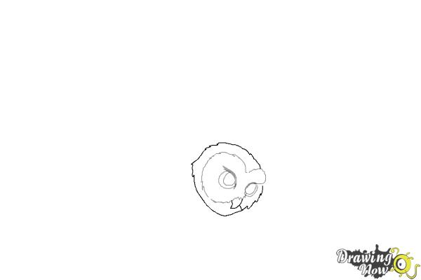 How to Draw Hedwig from Harry Potter - Step 3