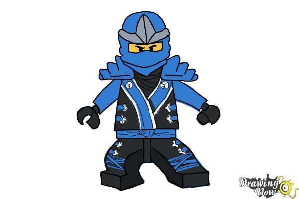 How To Draw Jay From Lego Ninjago Drawingnow