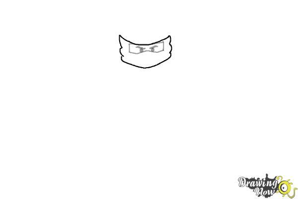 How to Draw Jay from Lego Ninjago - Step 2