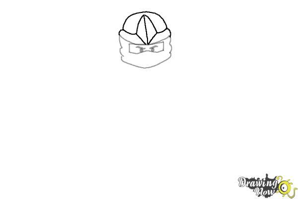 How to Draw Jay from Lego Ninjago - Step 3