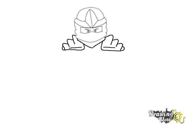 How to Draw Jay from Lego Ninjago - Step 4