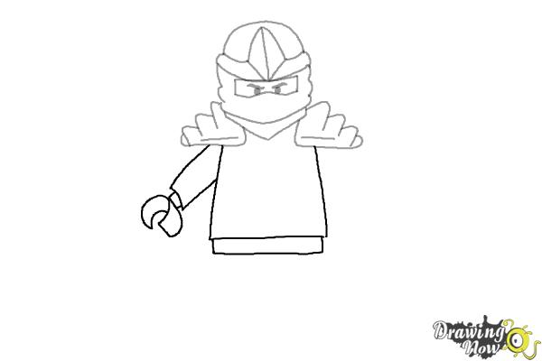 How to draw jay from lego ninjago step 5