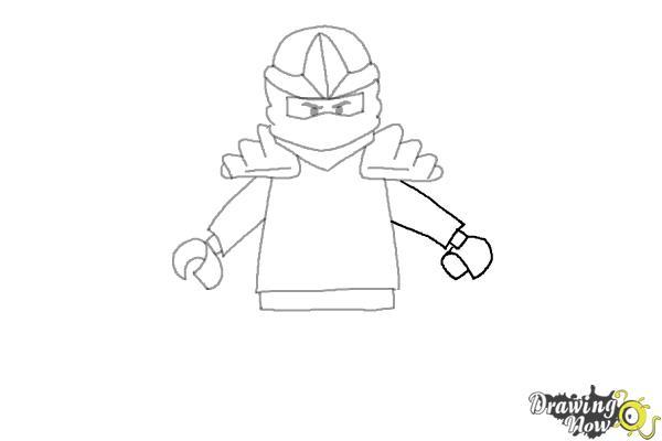 How to Draw Jay from Lego Ninjago - Step 6