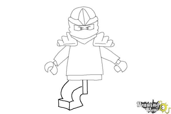 How to Draw Jay from Lego Ninjago - Step 7