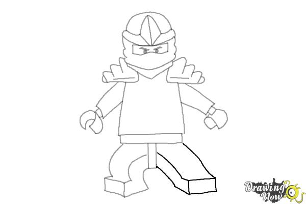 How to draw jay from lego ninjago step 8