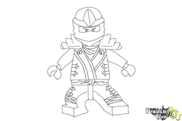 How to draw jay from lego ninjago step 9