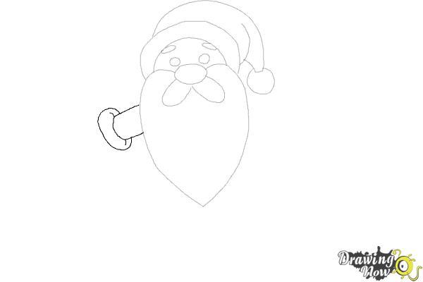 How to Draw Cute Santa Claus - Step 7