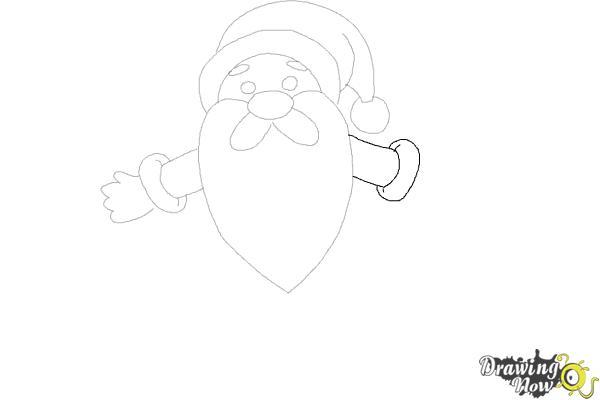 How to Draw Cute Santa Claus - Step 9