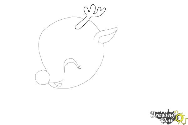 How to Draw a Cute Reindeer - Step 5
