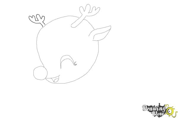 How to Draw a Cute Reindeer - Step 6