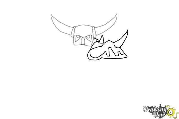 How to Draw P.E.K.K.A from Clash of Clans - Step 3