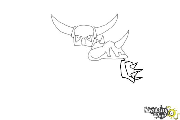 How to Draw P.E.K.K.A from Clash of Clans - Step 4