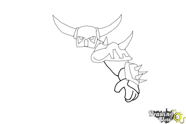 How to Draw P.E.K.K.A from Clash of Clans - Step 5