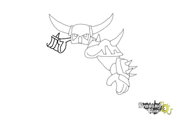 How to Draw P.E.K.K.A from Clash of Clans - Step 6