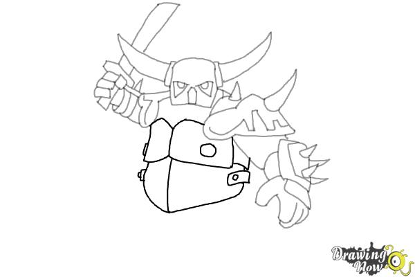 How to Draw P.E.K.K.A from Clash of Clans - Step 8
