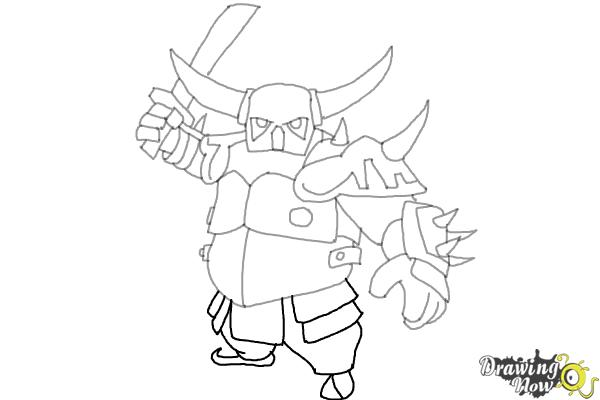 How To Draw P E K K A From Clash Of Clans Drawingnow