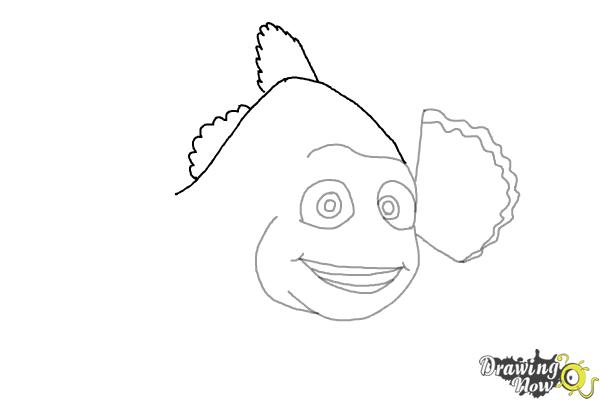 How to Draw Marlin from Finding Dory - Step 5