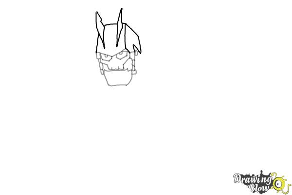How to Draw Victor Von Ion from the Movie Ratchet and Clank - Step 3