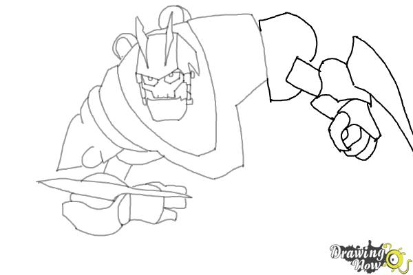 How to Draw Victor Von Ion from the Movie Ratchet and Clank - Step 7