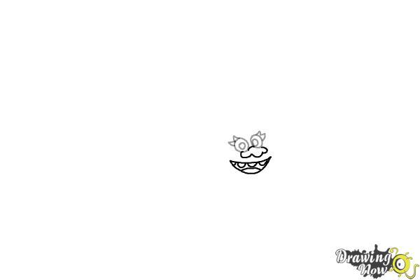 How to Draw DJ Suki from the Movie Trolls - Step 2