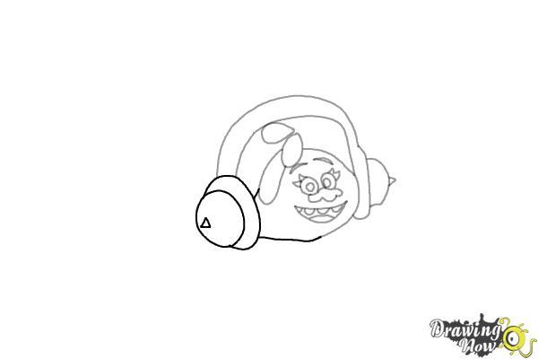 How to Draw DJ Suki from the Movie Trolls - Step 5