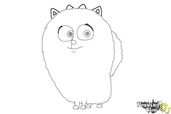 How to Draw Gidget from The Secret of Pets - Step 8