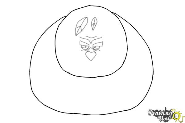 How to Draw Terence from The Angry Birds Movie - Step 5