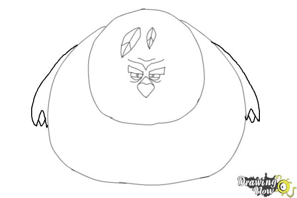 How to Draw Terence from The Angry Birds Movie - Step 6