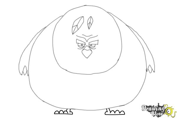 How to Draw Terence from The Angry Birds Movie - Step 7