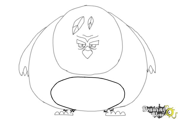 How to Draw Terence from The Angry Birds Movie - Step 8