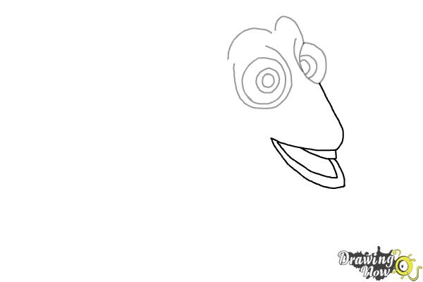 How to Draw Dory from Finding Dory - Step 3