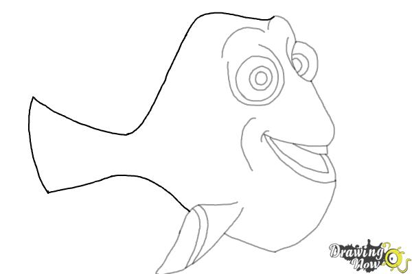 How to Draw Dory from Finding Dory - Step 5
