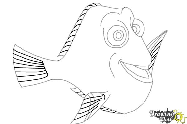 How to Draw Dory from Finding Dory - Step 7
