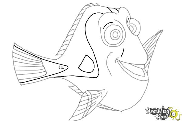 How to Draw Dory from Finding Dory - Step 8