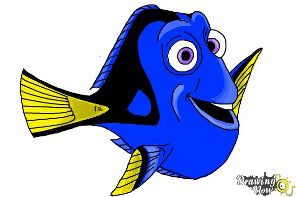 How to Draw Dory from Finding Dory - Step 9