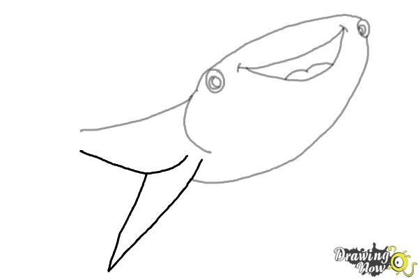 How to Draw Destiny from Finding Dory - Step 4