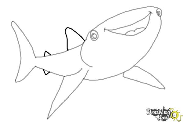 How to Draw Destiny from Finding Dory - Step 6