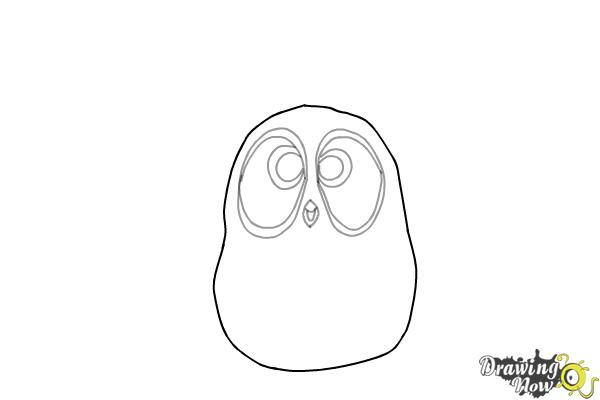 How to Draw The Blues from The Angry Birds Movie - Step 4